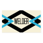 Welder Trendy Business Card