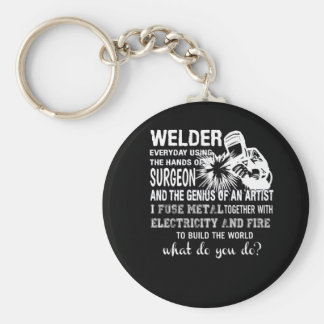 Welder Using Hands Surgeon Genius Artist Keychain
