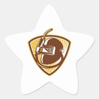 Welder Visor And Welding Torch Retro Shield Star Sticker