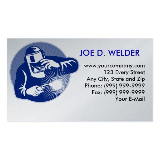 Welder welding business card zazzle for Welder business cards