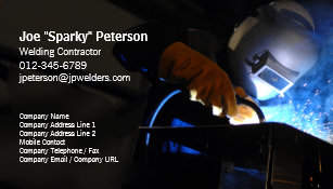 Welder business cards templates zazzle welder welding business card welding torch sparks colourmoves