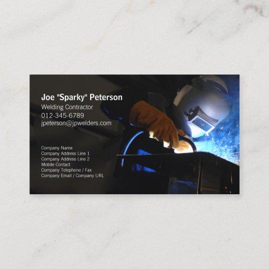 Welder welding business card welding torch sparks zazzle welder welding business card welding torch sparks colourmoves