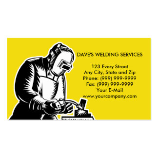 welder welding businesscard Double-Sided standard business cards (Pack of 100)