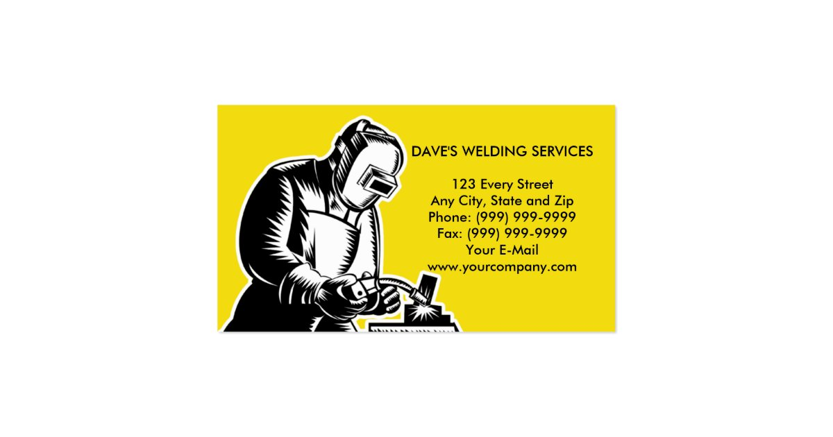Welder welding businesscard business card zazzle for Welder business cards