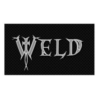 Welder Welding Grunge Professional Business Cards