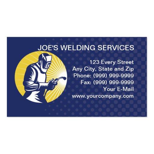 Welder welding worker business card zazzle for Welding business card ideas