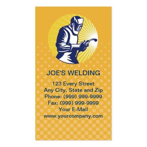 welder welding worker business card