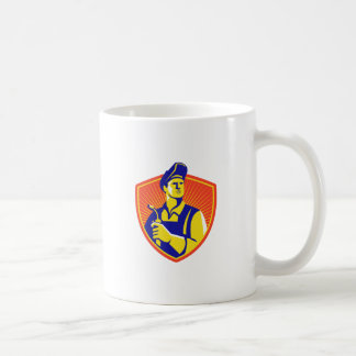 Welder With Welding Torch Shield Retro Coffee Mug