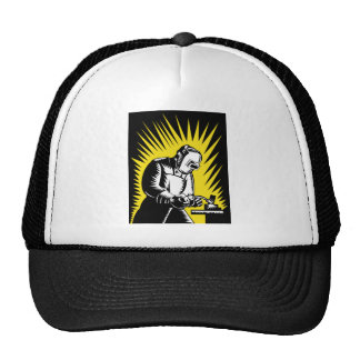 welder worker welding trucker hat