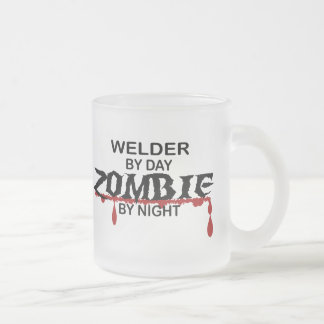 Welder Zombie Frosted Glass Coffee Mug