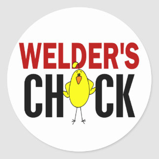 Welder's Chick Classic Round Sticker
