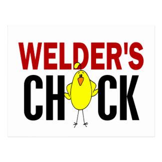 Welder's Chick Post Cards