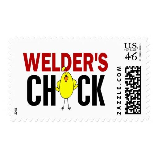 Welder's Chick Stamps