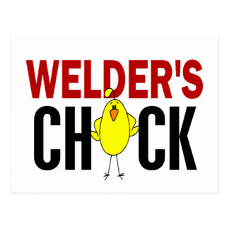 Welder's Chick Postcard