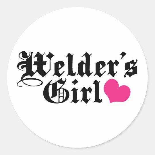 Welder's Girl Classic Round Sticker
