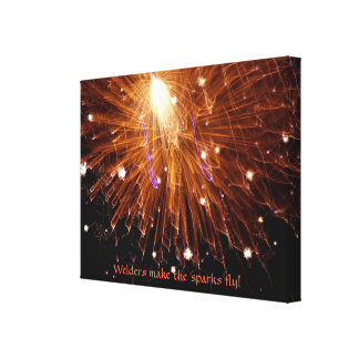 Welders Make The Sparks Fly Wrapped Canvas