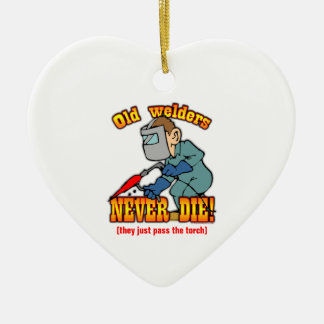 Welders Double-Sided Heart Ceramic Christmas Ornament