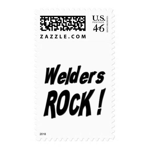 Welders Rock ! Postage Stamps