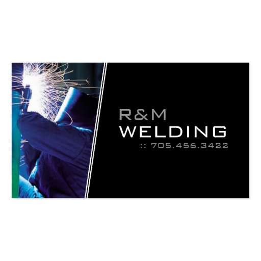 Welding business cards zazzle for Welder business cards