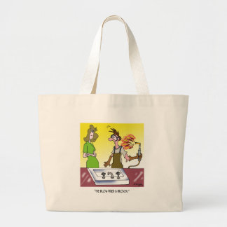 Welding Cartoon 6139 Large Tote Bag