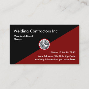 Welding Contractors Businesscards Business Card