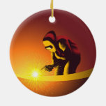 Welding Double-Sided Ceramic Round Christmas Ornament