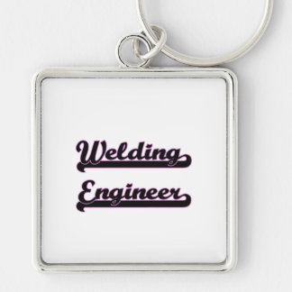 Welding Engineer Classic Job Design Silver-Colored Square Keychain