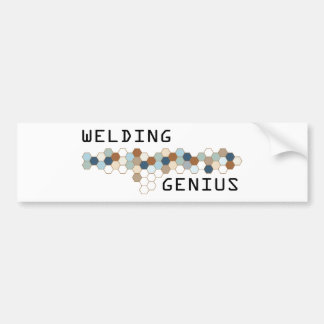 Welding Genius Bumper Sticker