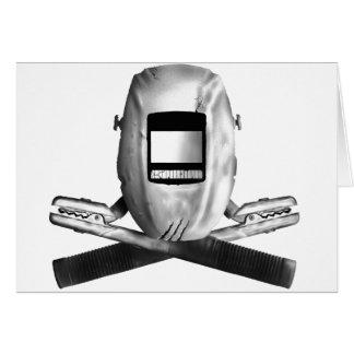 Welding Hood and Cross Stingers Card