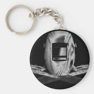 Welding Hood and Cross Stingers Keychain