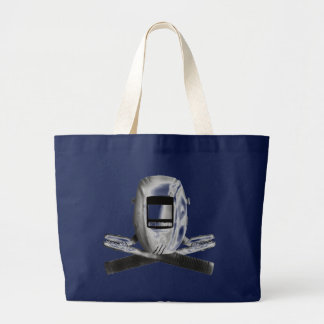 Welding Hood and Cross Stingers Large Tote Bag