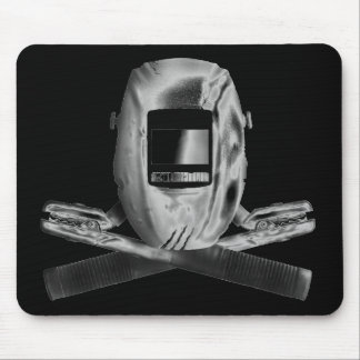 Welding Hood and Cross Stingers Mouse Pad