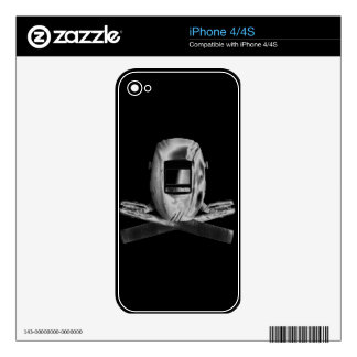Welding Hood and Cross Stingers Skins For The iPhone 4