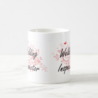 Welding Inspector Artistic Job Design with Butterf Coffee Mug