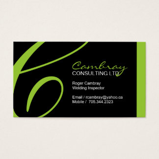 Welding Inspector Business Card