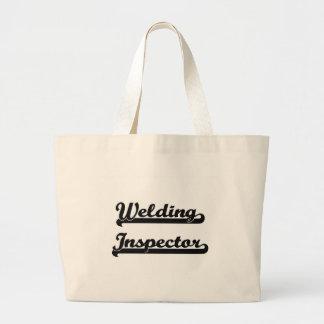 Welding Inspector Classic Job Design Jumbo Tote Bag