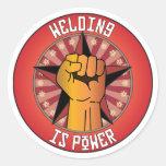 Welding Is Power Round Sticker