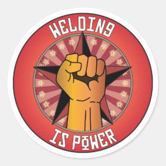 Welding Is Power Classic Round Sticker
