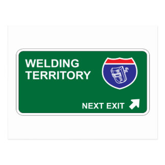Welding Next Exit Postcard