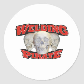 Welding Pirate! Classic Round Sticker