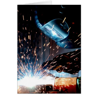Welding Sparks Greeting Card