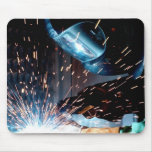 Welding Sparks Mouse Pad