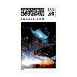 Welding Sparks Postage Stamps