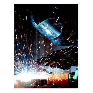 Welding Sparks Postcard