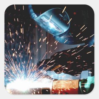 Welding Sparks Square Sticker
