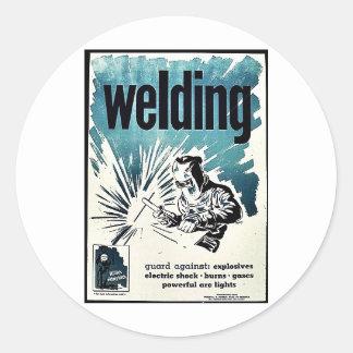 Welding Round Stickers