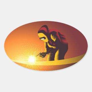 Welding Oval Sticker