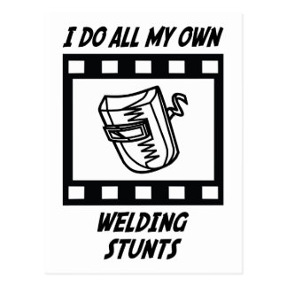 Welding Stunts Postcard