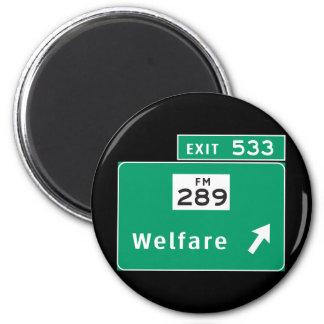 Welfare 2 Inch Round Magnet