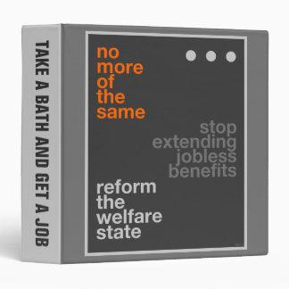 Welfare Reform 3 Ring Binder